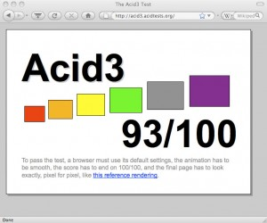 Firefox 3.5b99 Acid3 Test